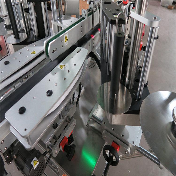 CE automatisk mærkatmærkningsmaskine, front- og bagflaskemærkemaskine