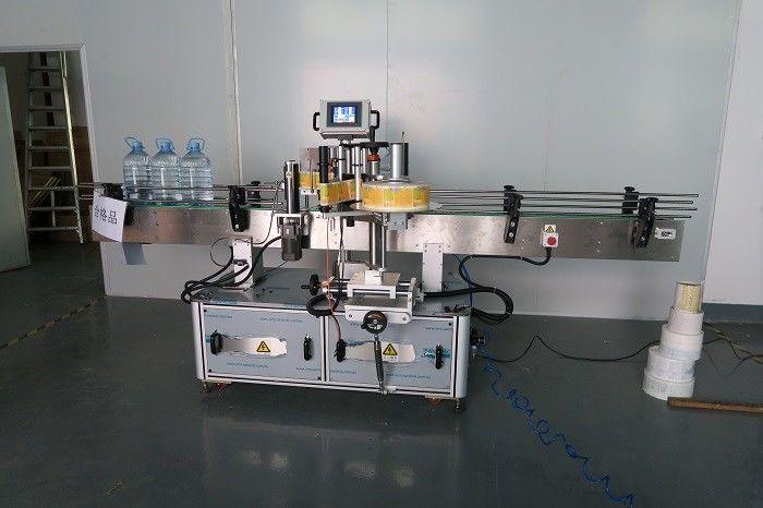 Kina 5L drikkevand rund flaske klistermærke mærkning maskine, selvklæbende etiket klæbemaskiner leverandør