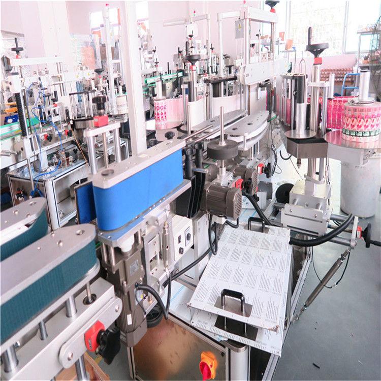 Flaskemærkningsmaskine til dobbelt side til forskellige flade firkantede flaskekrukke