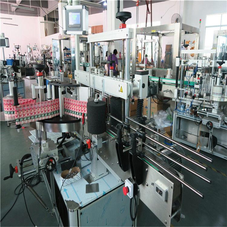 Kina 350ML automatisk glasflaske mærkning maskine 190mm højde maks leverandør