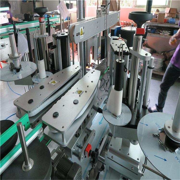Kina fuldautomatisk mærkatmærkningsmaskine, vandflaske foran og bagpå mærkningsmaskine leverandør
