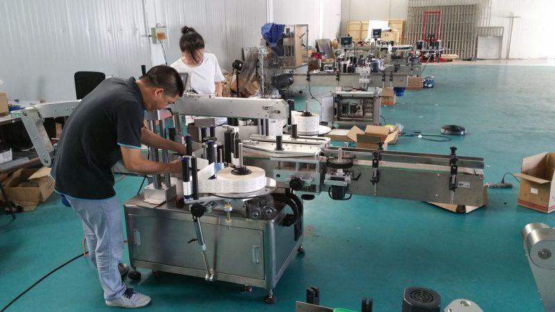 Kina tilpasset vandflaskemærkningsmaskine, automatisk bænkemærkemaskine til dobbeltsider leverandør