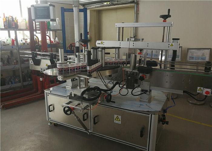 Kina to hoveder oval flaske mærkning maskine til oval flaske i kemisk industri leverandør