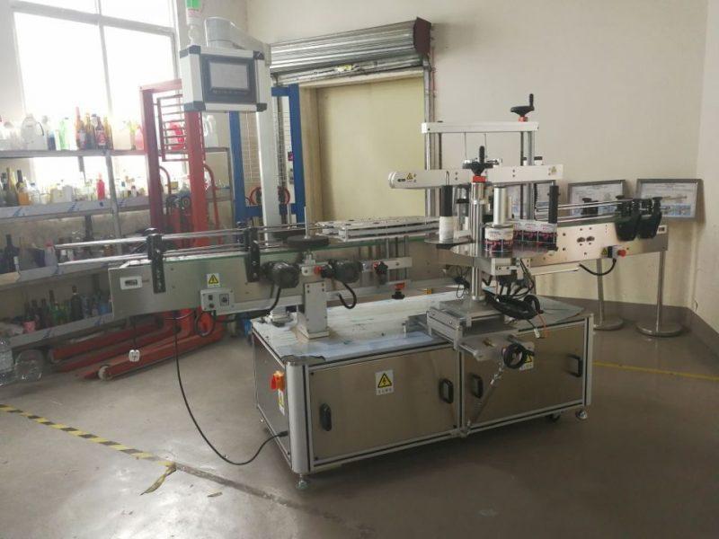 Kina Fuld automatisk firkantet flaske mærkning maskine wrap for 3000-5000B / H leverandør