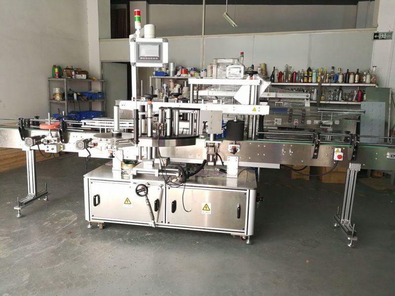 Kina rund flaskemærkningsmaskine / fuldautomatisk flad overflademærkatapplikator leverandør