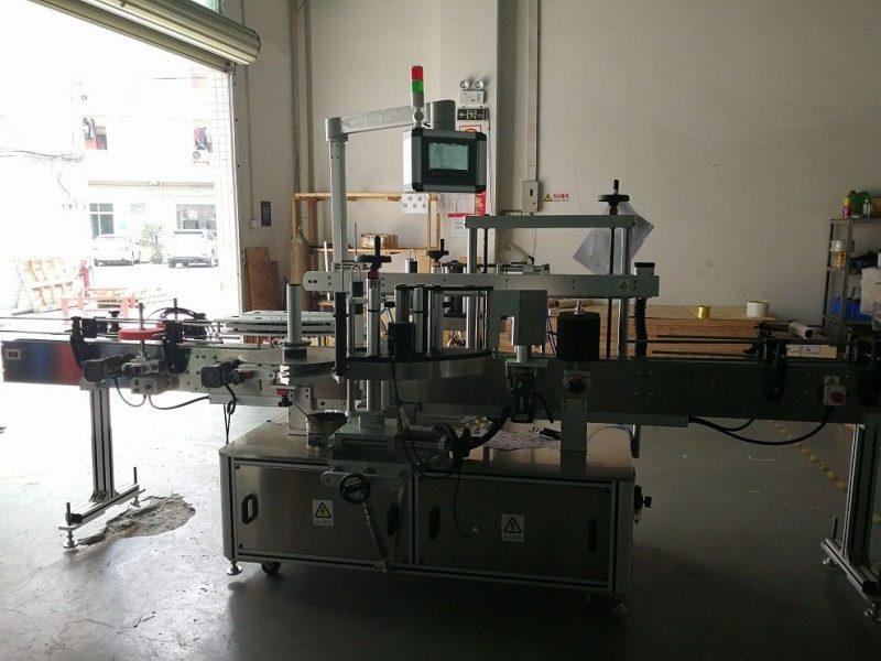 Kina To sider Firkantet flaske mærkning maskine høj præcision 50Hz leverandør