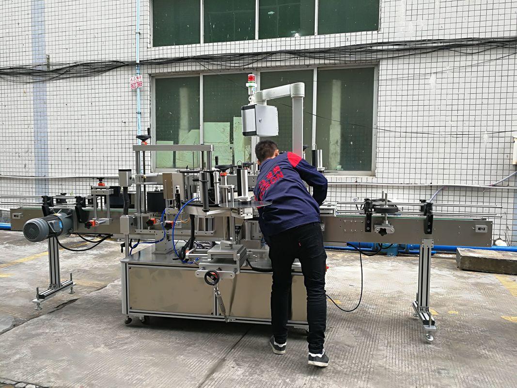 Fuldautomatisk vandflaskemærkningsmaskine til glas / PET-flaske