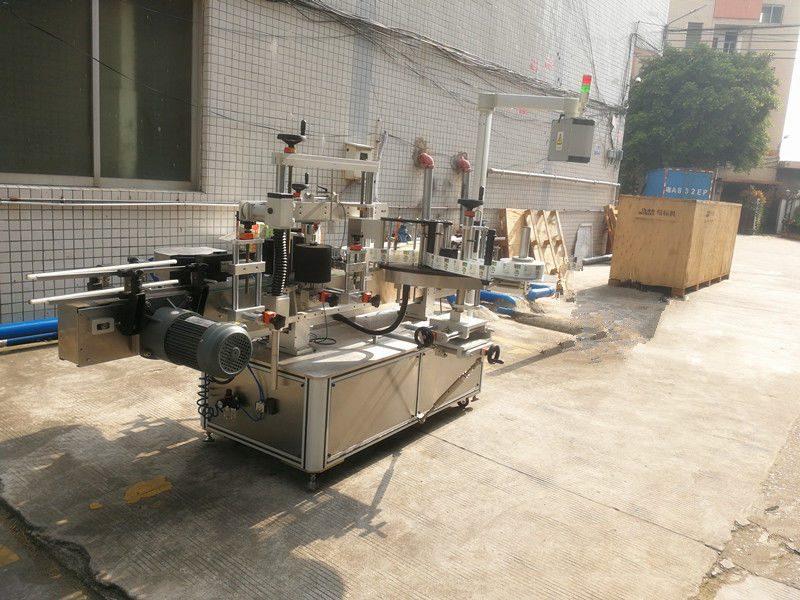 Kina firkantet flaskemærkningsmaskine, selvklæbende mærkningsmaskine til sekskantede og firkantede krukker leverandør