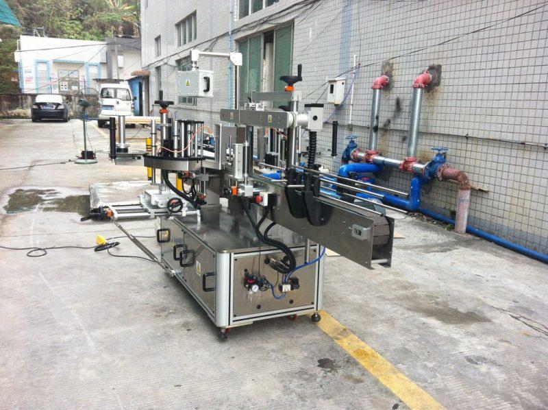Kina klæbemærkeapplikator maskine til mineralvand rund firkantet kegle leverandør