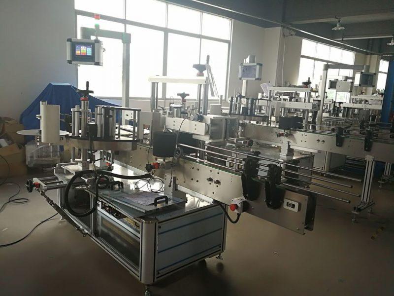 Kina Selvklæbende mærkatmærkningsmaskine på forsiden og bagsiden, flaskemærkeapplikator leverandør