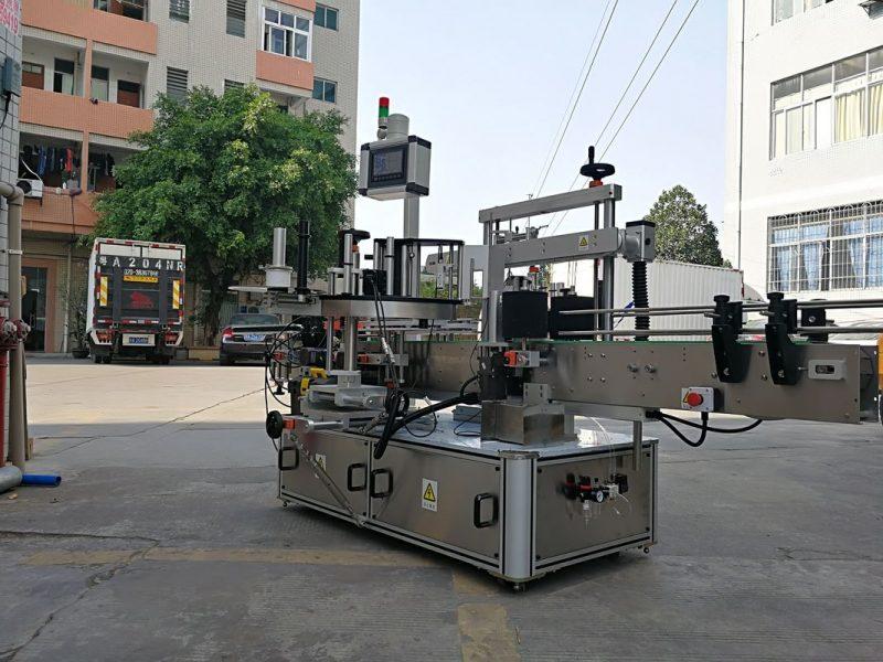 Kina Højhastigheds automatisk trekantet flaskeetiketapplikatormaskine med enkeltmærkeleverandør