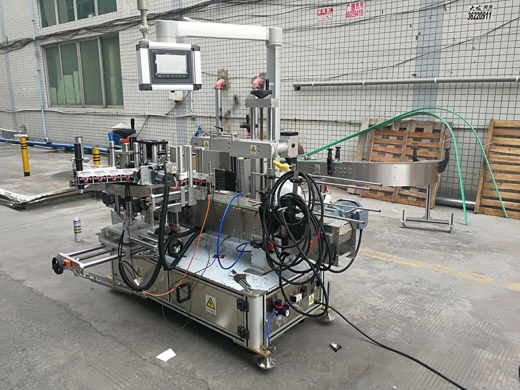 Fuldautomatisk klæbemærkemaskine med dobbeltsidet flaske med koder