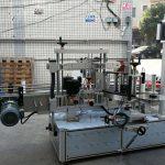 Selvklæbende cylindrisk / oval flaskemærkningsmaskine med PLC-berøringsskærm