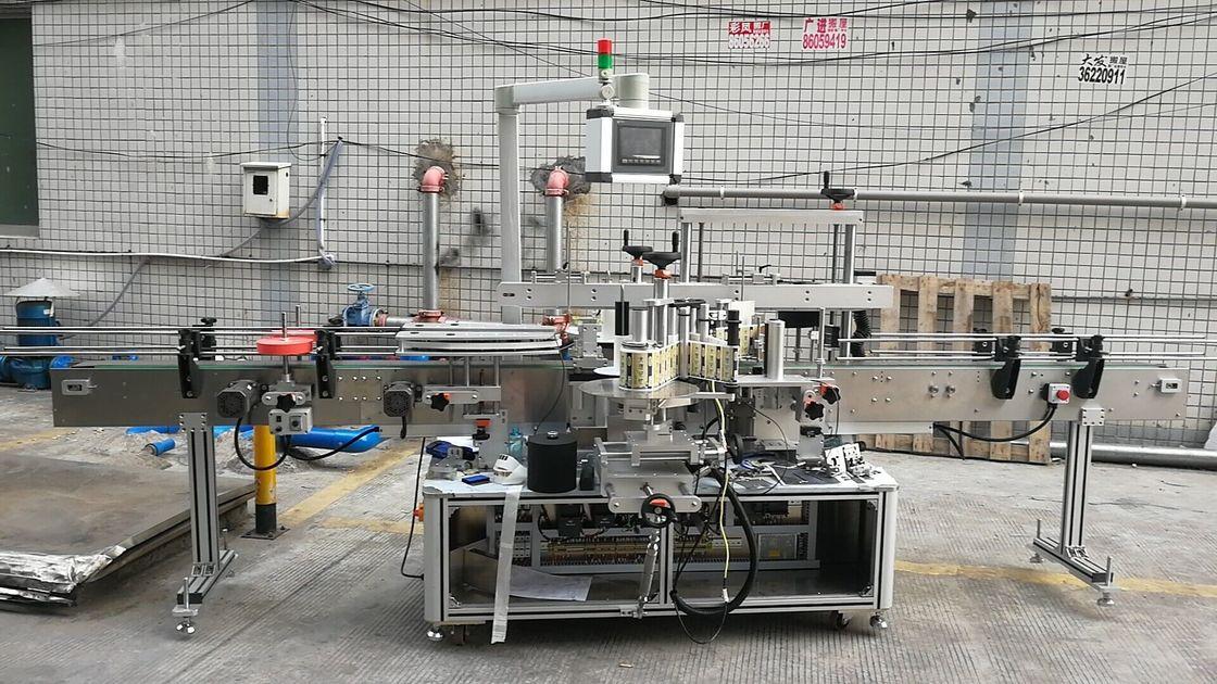 Automatisk klæbende firkantet flaskemærkning maskine dobbelt side