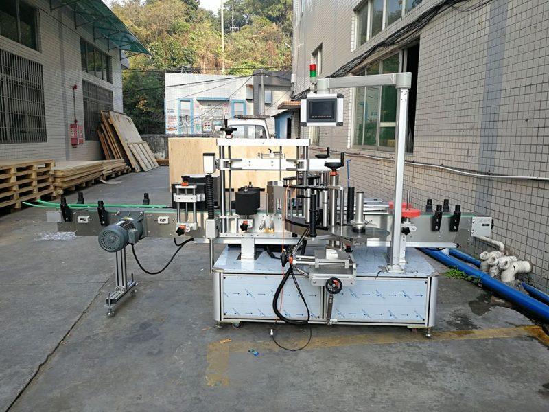 Kina Automatisk mærkat flad flaskemærkningsmaskine integreret for- og bagside leverandør