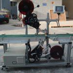 Højeffektiv topmærkningsmaskine med delt båndtransportør