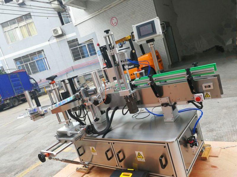 Kina trykfølsom rund flaske klistermærke maskine, lodret omvikling af etiket applikator leverandør