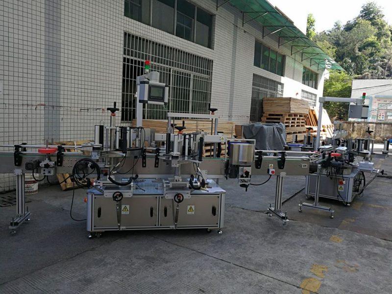 Kina flad / firkantet flaske klistermærke mærkning maskine fuldautomatisk 5000-8000B / H kapacitet leverandør